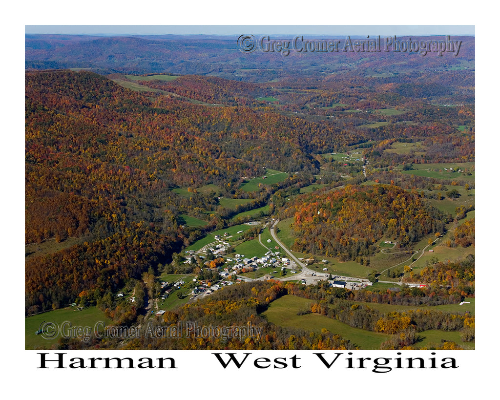 Aerial Photo of Harman, West Virginia