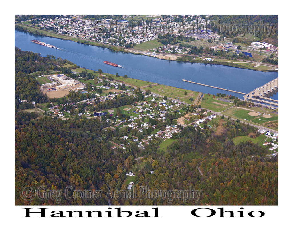 Aerial Photo of Hannibal, Ohio