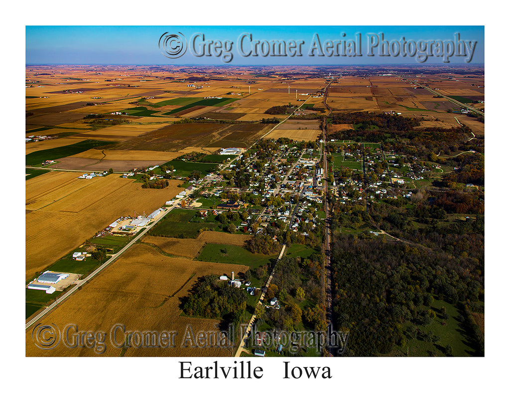 Aerial Photo of Earlville, Iowa
