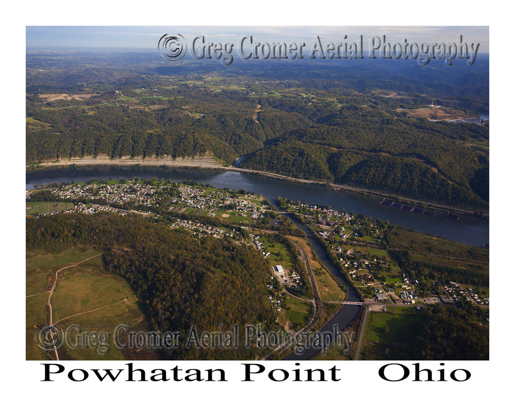 Aerial Photo of Powhatan Point, Ohio
