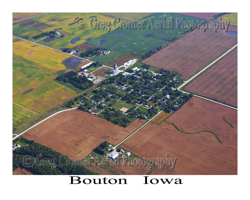Aerial Photo of Bouton Iowa