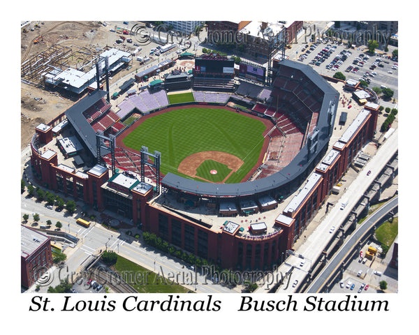 Aerial Photo of Cardinals Busch Stadium St. Louis Missouri