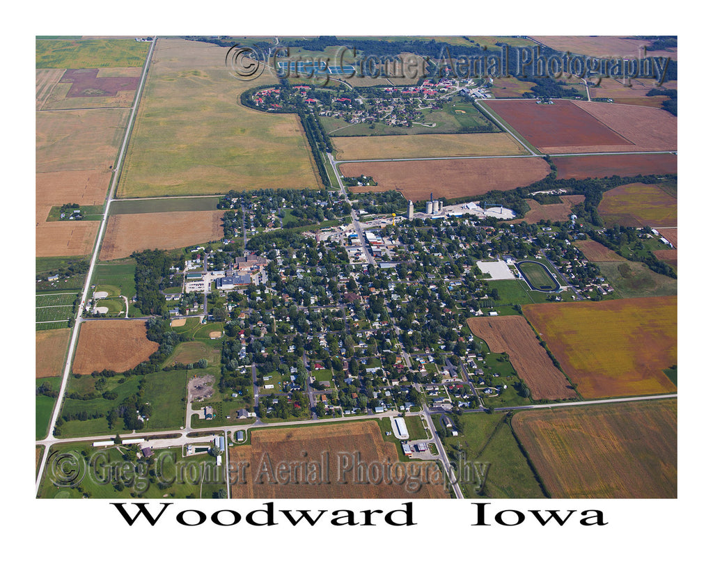 Aerial Photo of Woodward Iowa