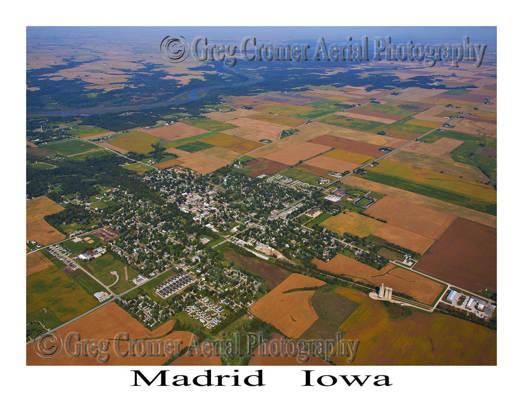 Aerial Photo of Madrid Iowa