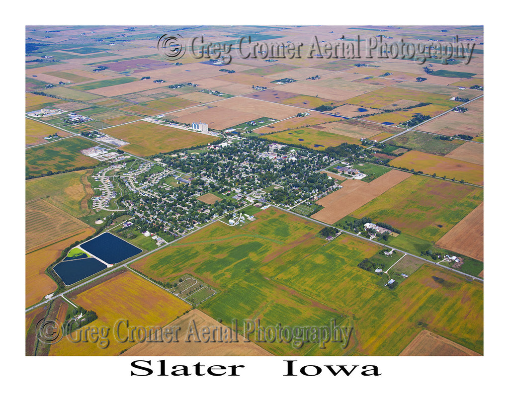 Aerial Photo of Slater Iowa