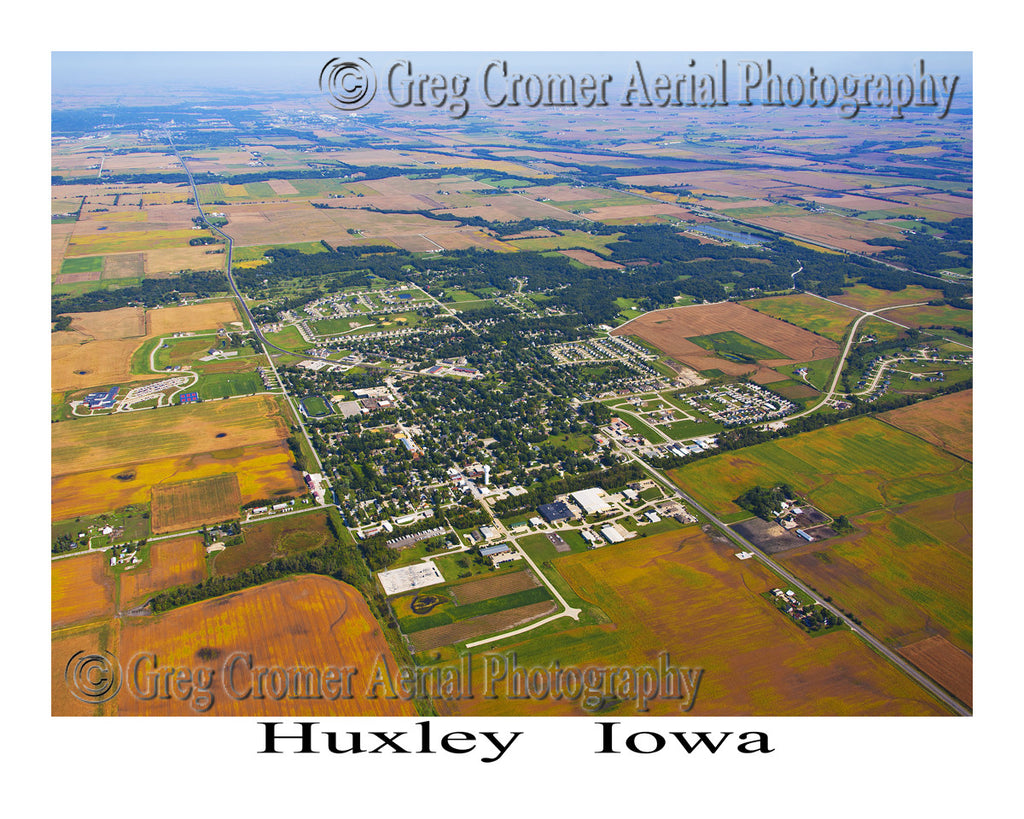 Aerial Photo of Huxley Iowa