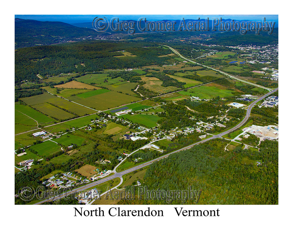 Aerial Photo of North Clarendon, Vermont