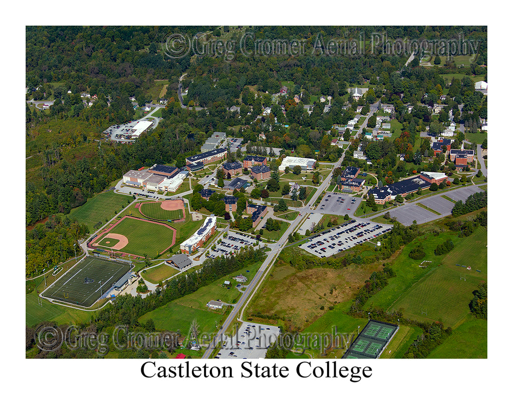 Aerial Photo of Castleton State College, Vermont