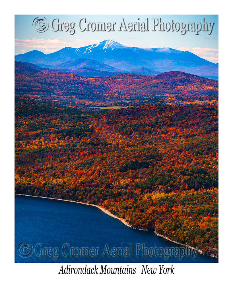 Aerial Photo of Adirondack Mountains, New York