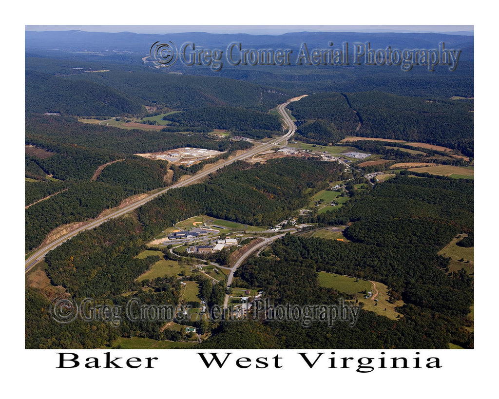 Aerial Photo of Baker, West Virginia
