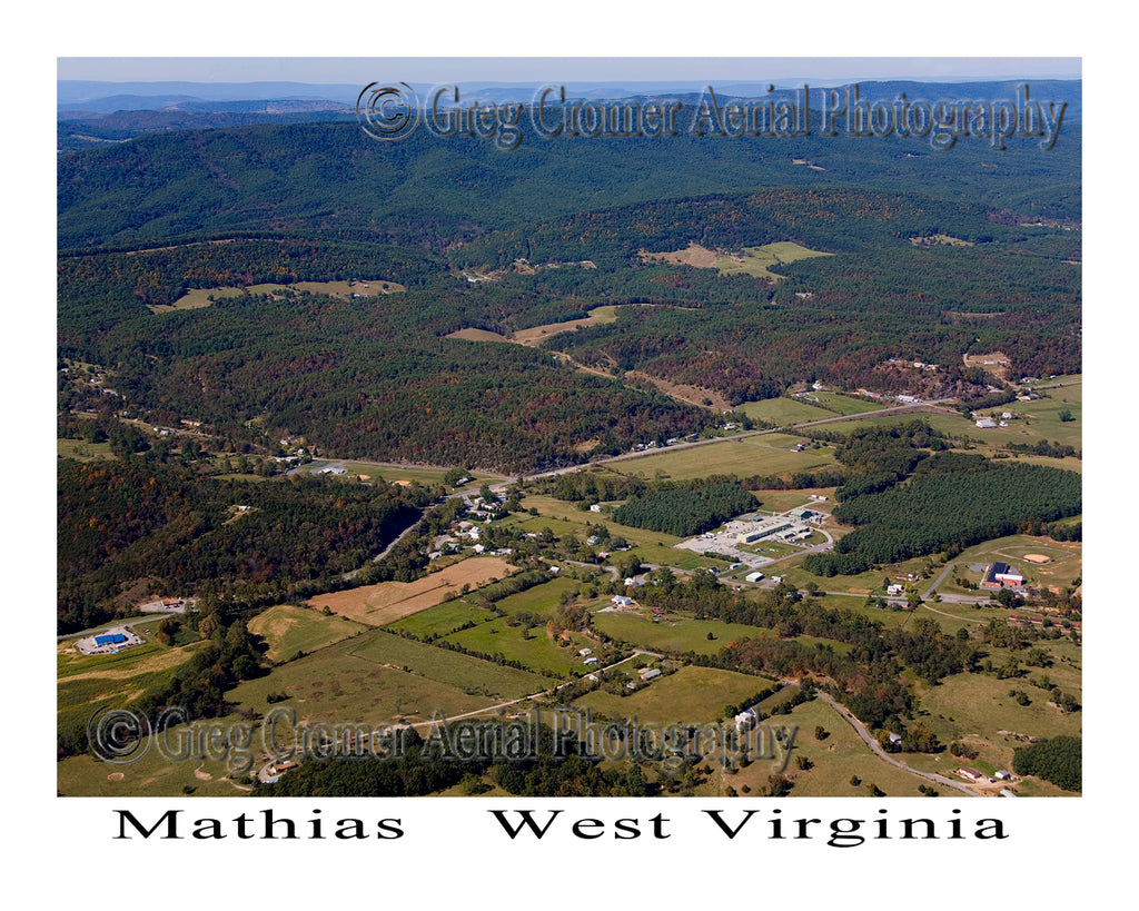 Aerial Photo of Mathias, West Virginia