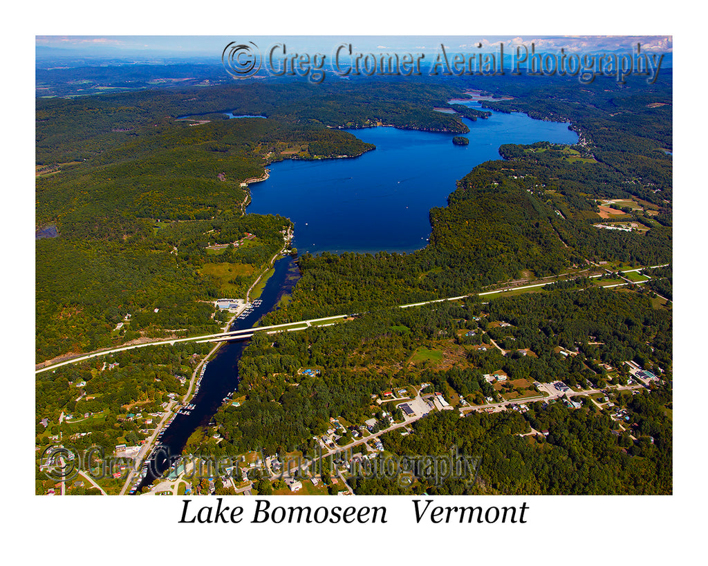 Aerial Photo of Lake Bomoseen, Vermont