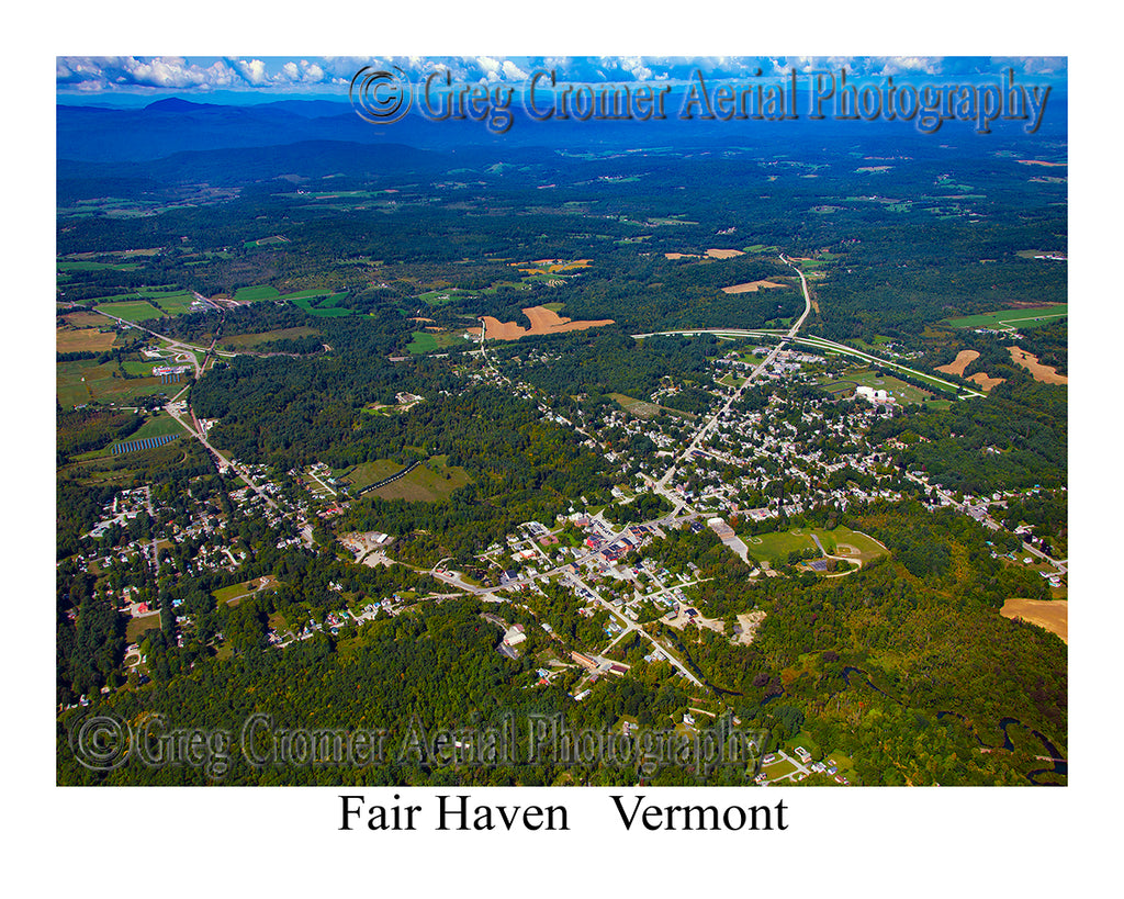 Aerial Photo of Fair Haven, Vermont