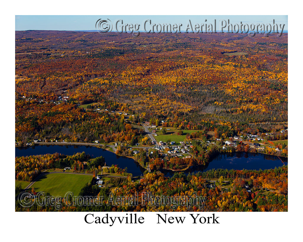 Aerial Photo of Cadyville, New York