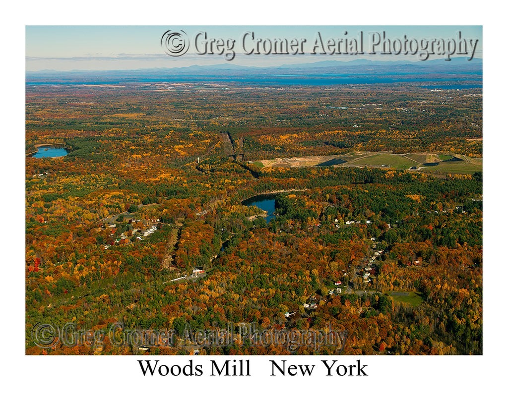 Aerial Photo of Woods Mill, New York