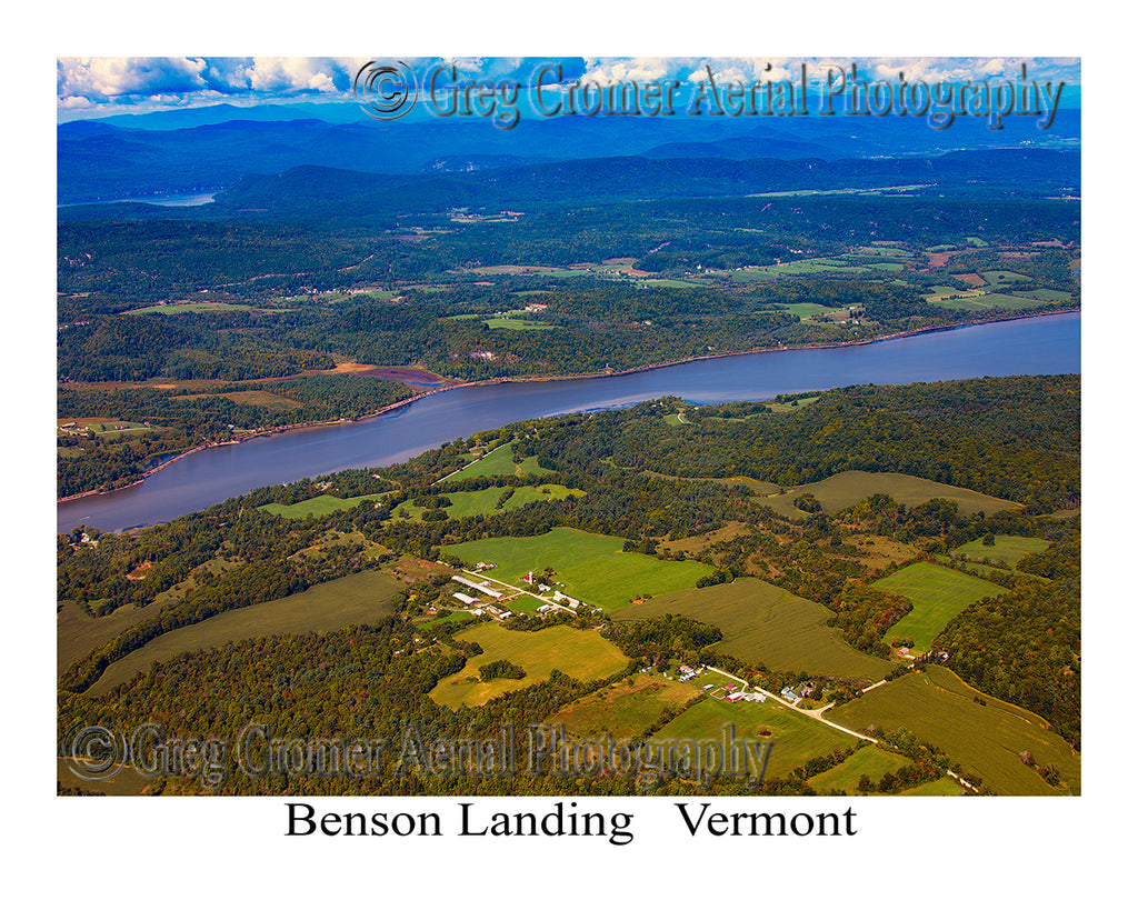 Aerial Photo of Benson Landing, Vermont