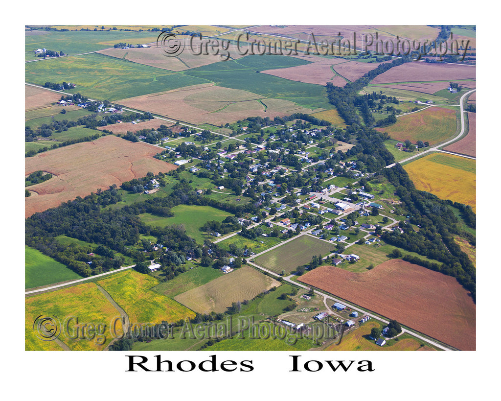 Aerial Photo of Rhodes Iowa