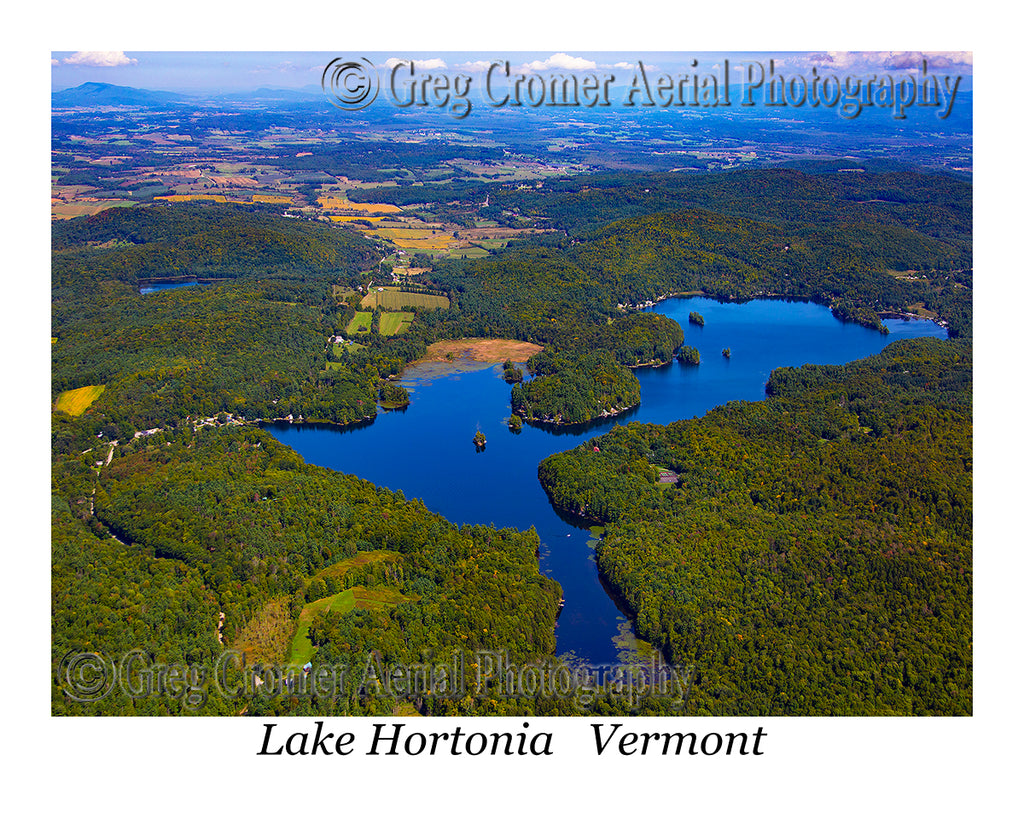 Aerial Photo of Lake Hortonia, Vermont