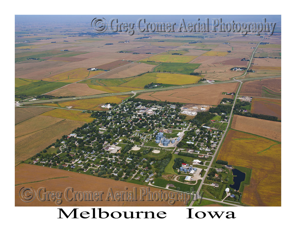 Aerial Photo of Melbourne Iowa