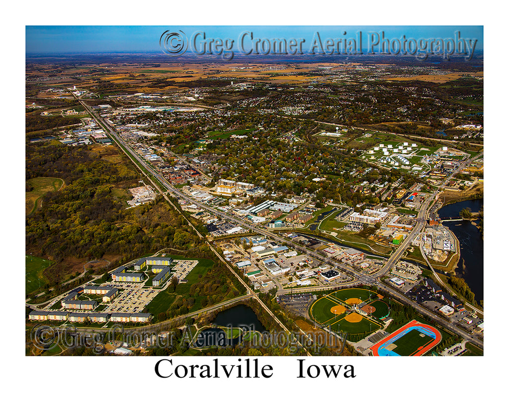 Aerial Photo of Coralville, Iowa