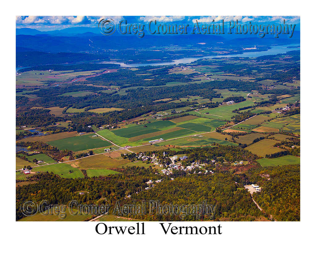 Aerial Photo of Orwell, Vermont