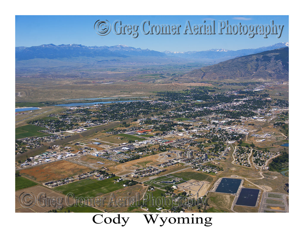 Aerial Photo of Cody, Wyoming