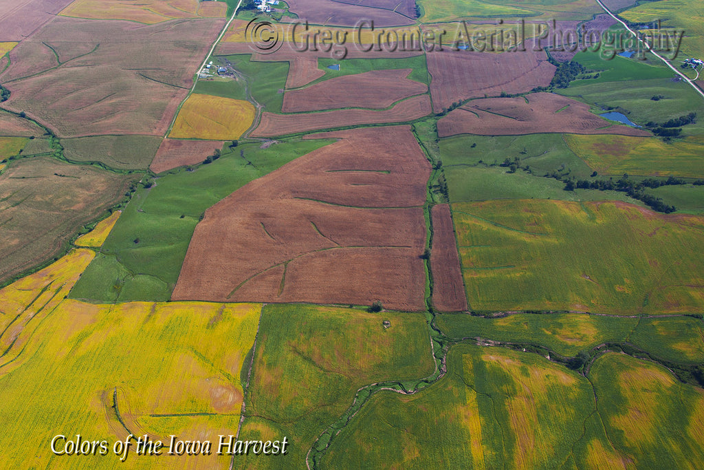 Aerial Photo - Iowa Quilt - from the Colors of the Iowa Harvest Series - Iowa