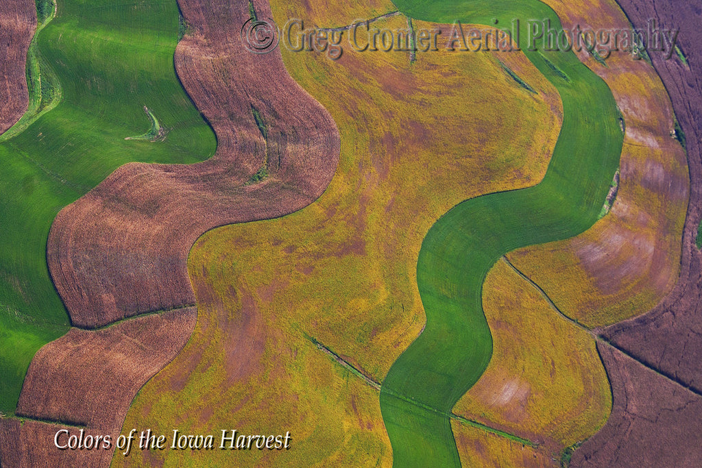 Aerial Photo - Ribbon Candy - from the Colors of the Iowa Harvest Series - Iowa