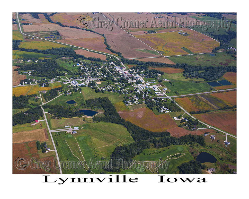 Aerial Photo of Lynnville Iowa