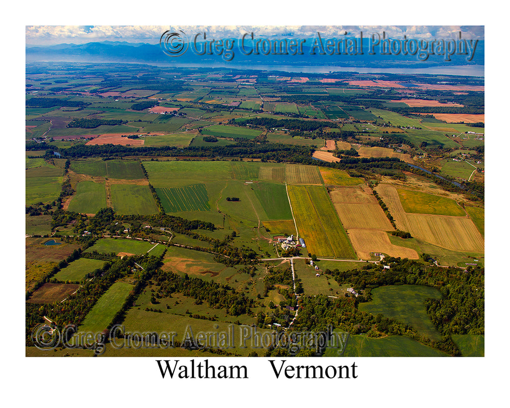 Aerial Photo of Waltham, Vermont