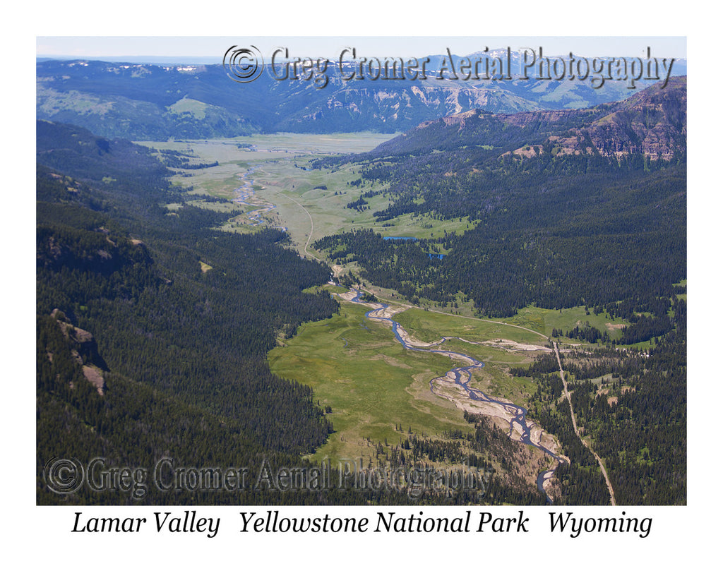 Aerial Photo of Lamar Valley - Yellowstone National Park, Wyoming
