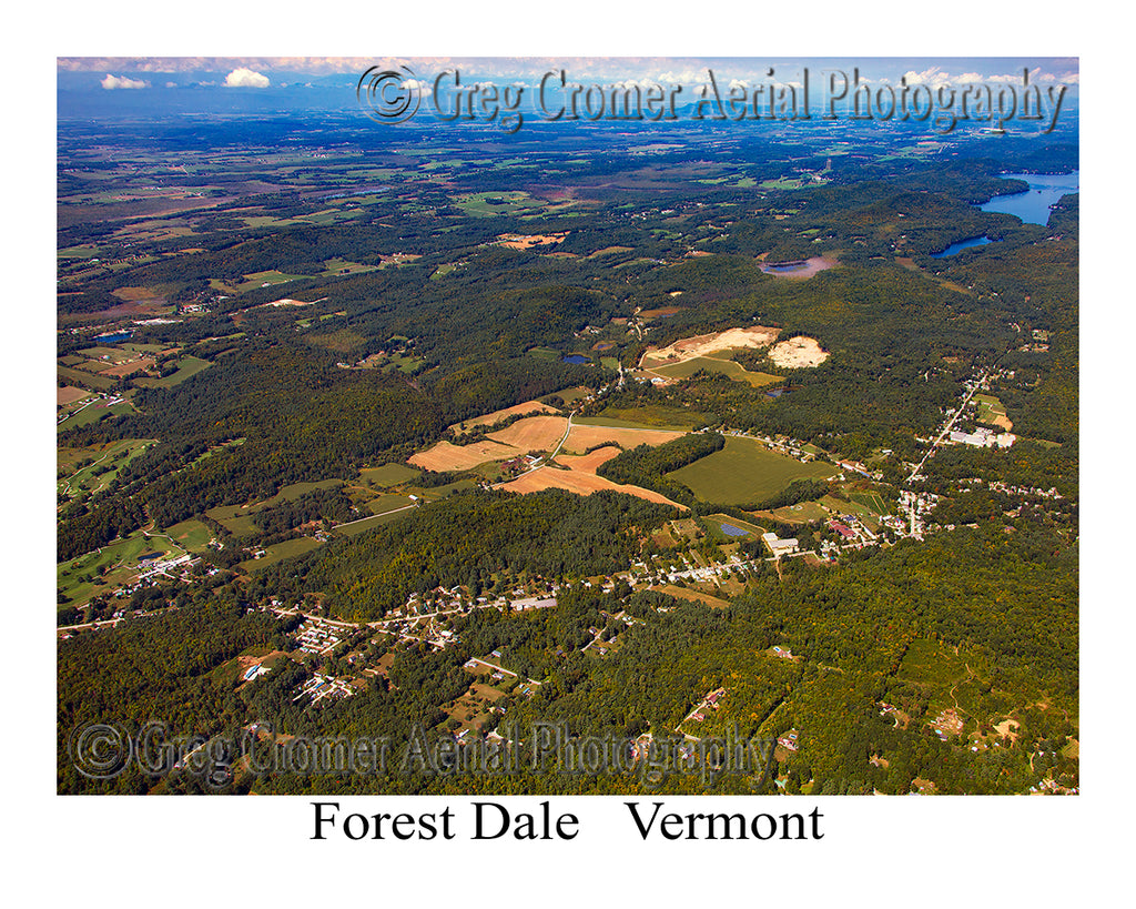 Aerial Photo of Forest Dale, Vermont
