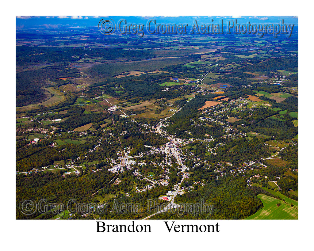Aerial Photo of Brandon, Vermont