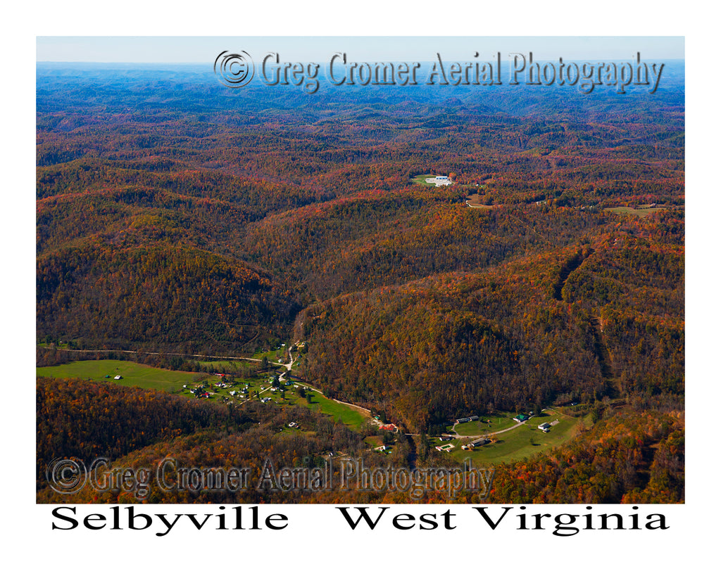 Aerial Photo of Selbyville, West Virginia