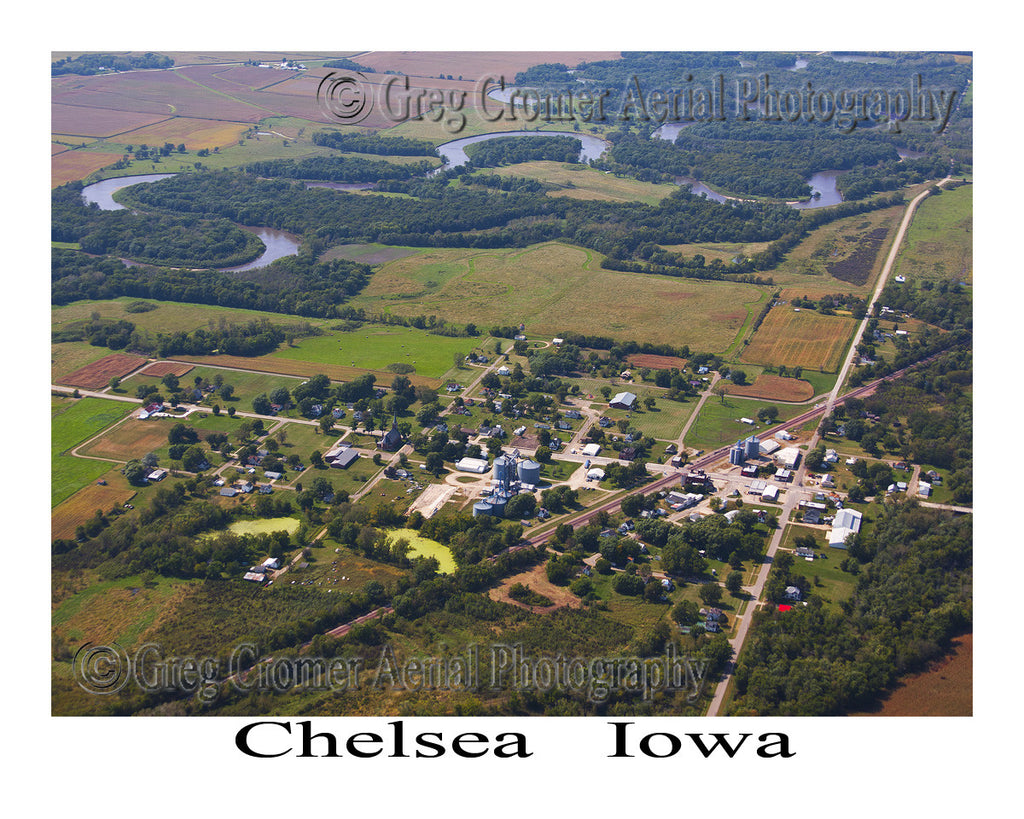 Aerial Photo of Chelsea Iowa