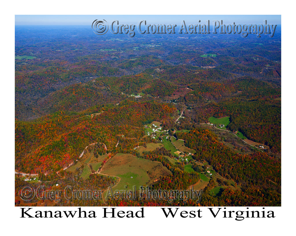 Aerial Photo of Kanawha Head, West Virginia