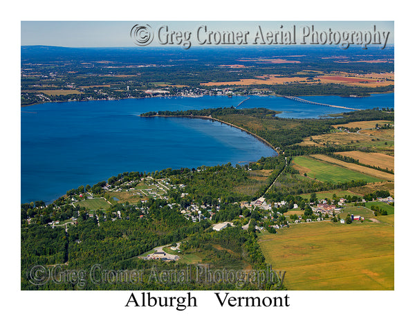 Aerial Photo of Alburgh, Vermont
