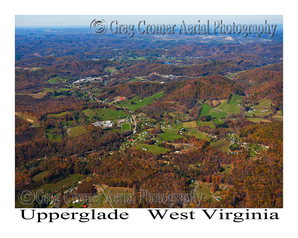 Aerial Photo of Upperglade, West Virginia