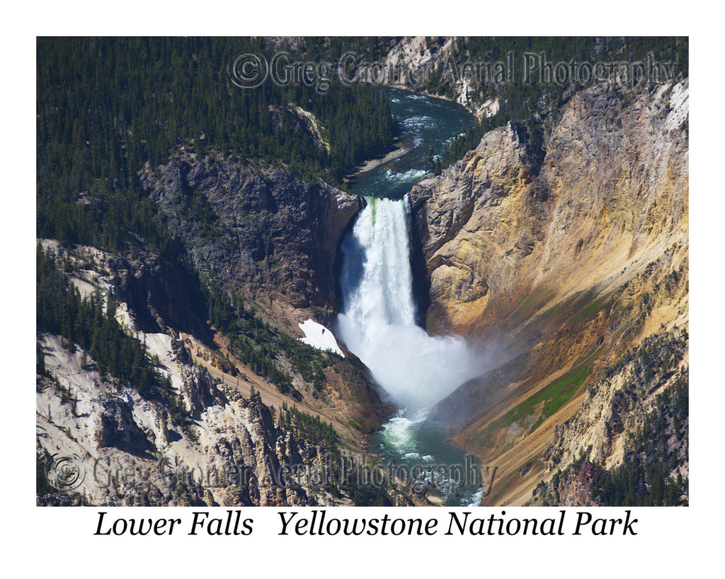 Aerial Photo of Lower Falls - Yellowstone National Park, Wyoming