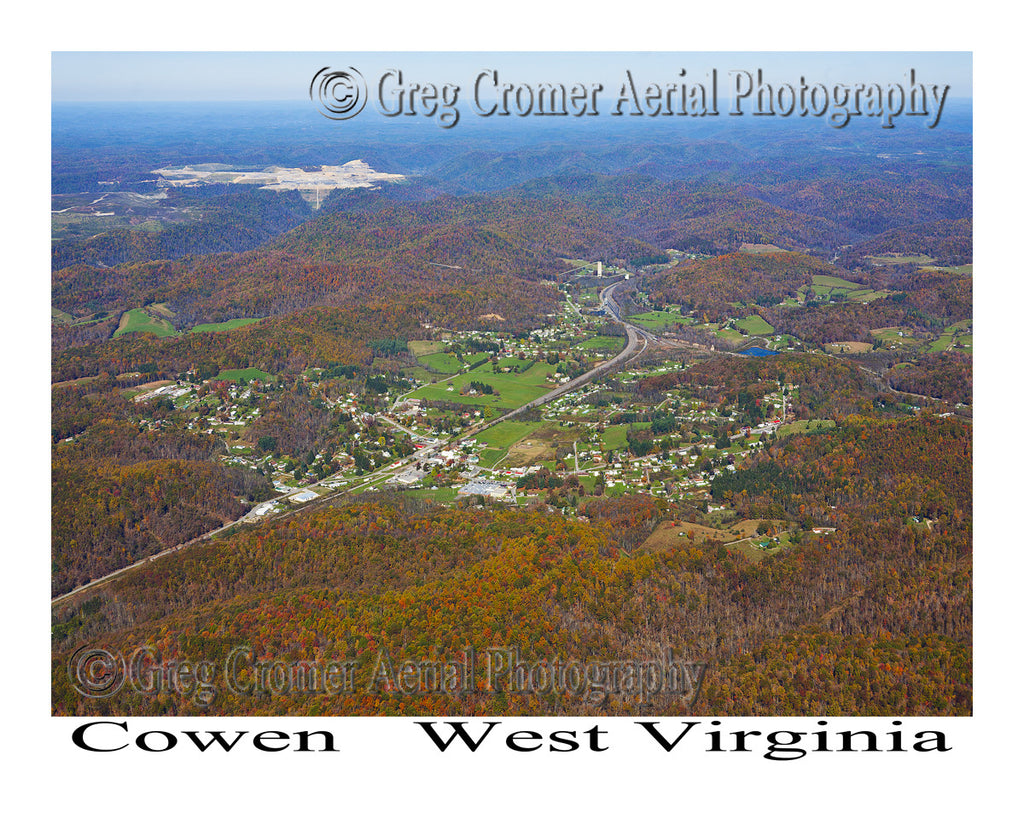 Aerial Photo of Cowen, West Virginia