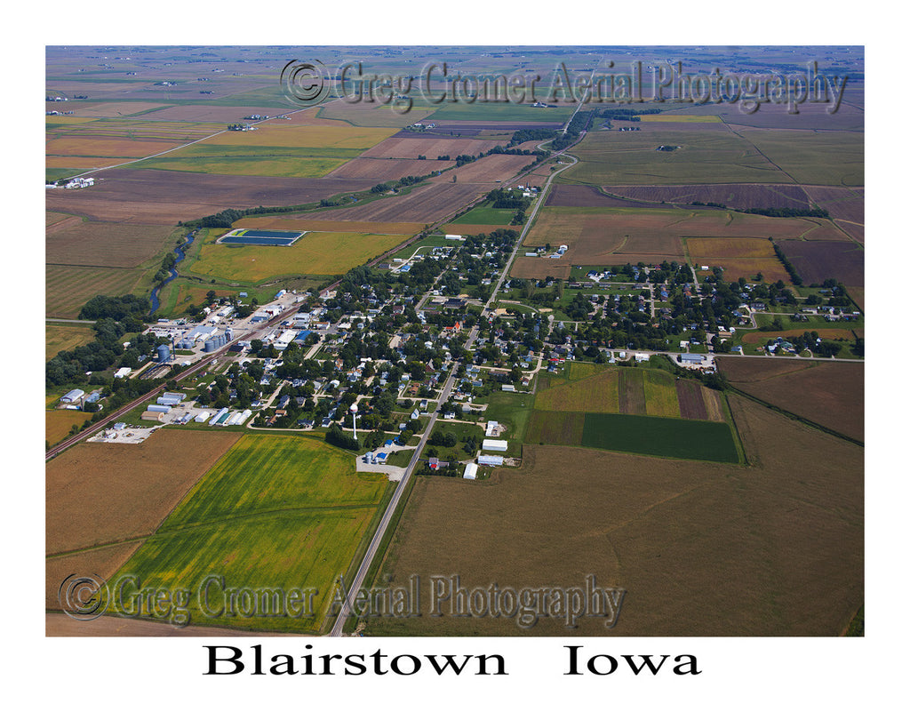 Aerial Photo of Blairstown Iowa