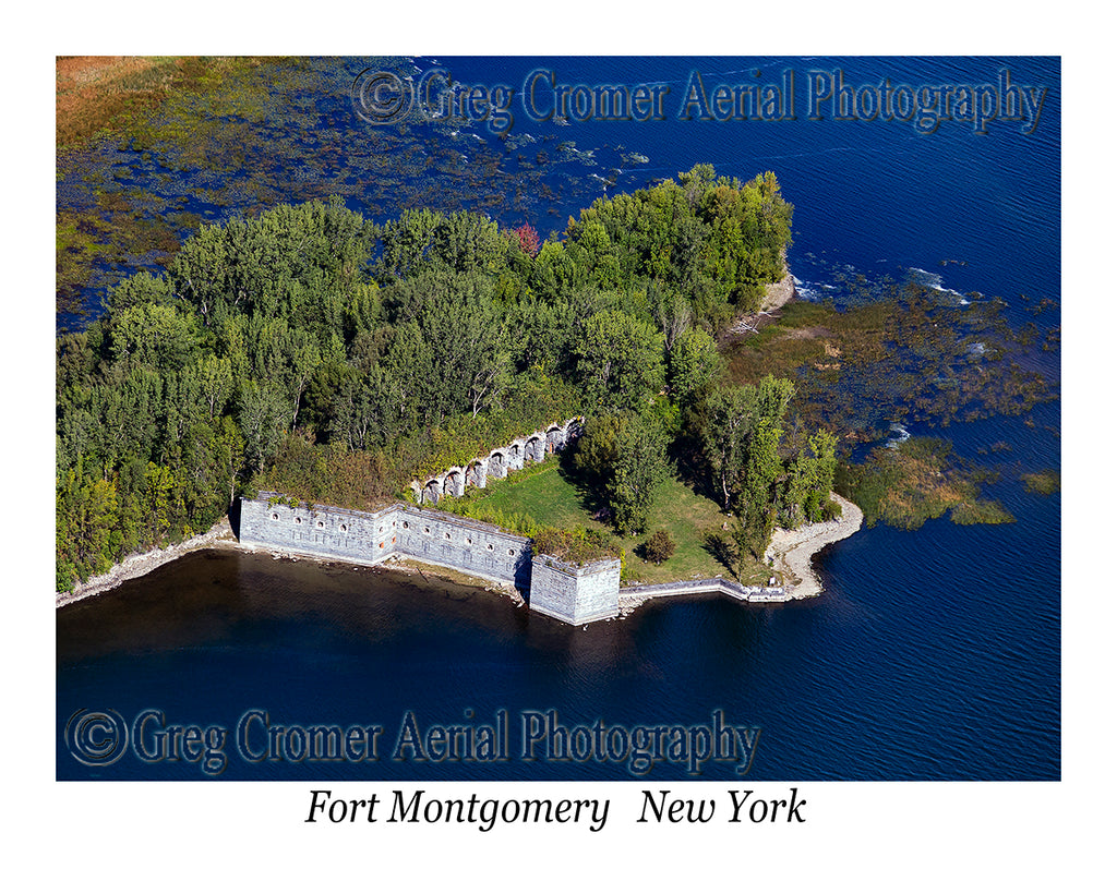 Aerial Photo of Fort Montgomery, Rouses Point, New York