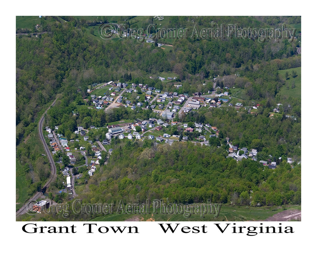Aerial Photo of Grant Town, West Virginia