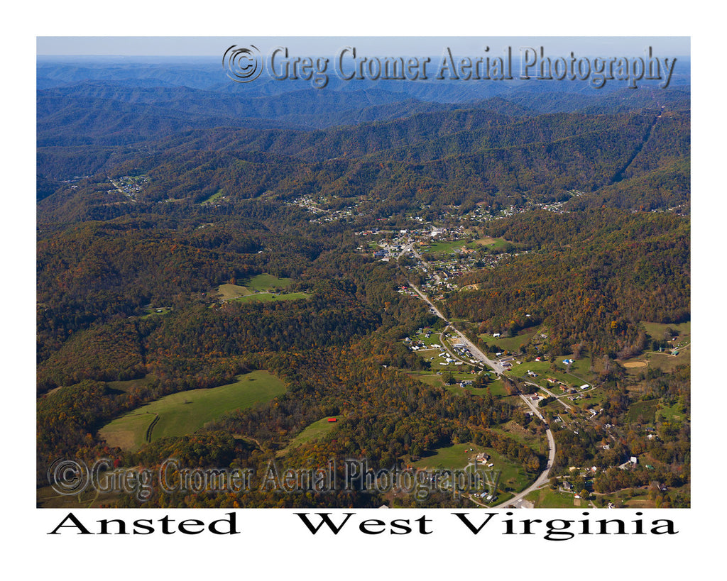 Aerial Photo of Ansted, West Virginia