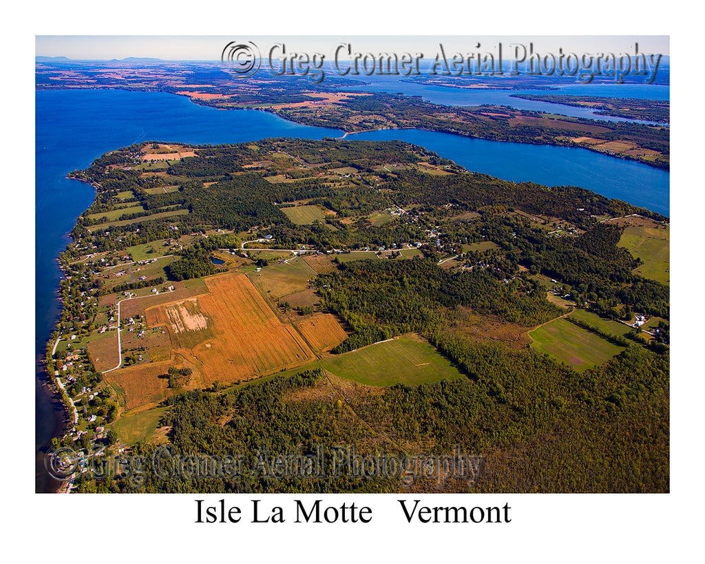 Aerial Photo of Isle la Motte, Vermont