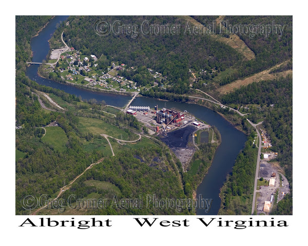 Aerial Photo of Albright, West Virginia