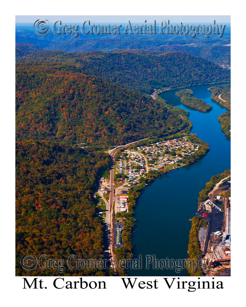 Aerial Photo of Mount Carbon, West Virginia