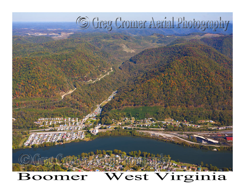 Aerial Photo of Boomer, West Virginia