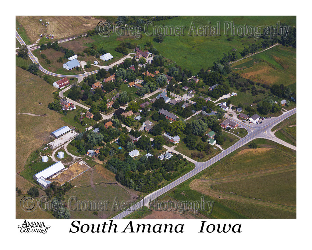 Aerial Photo of South Amana Iowa