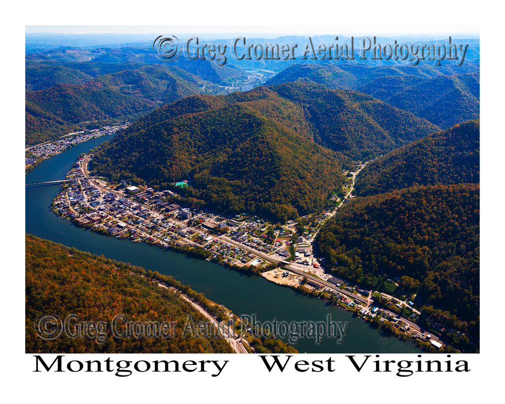 Aerial Photo of Montgomery, West Virginia